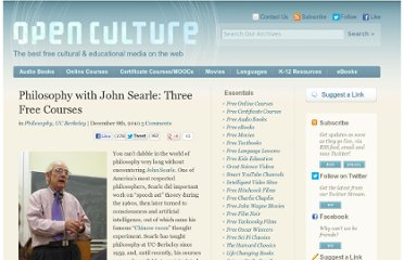 http://www.openculture.com/2010/12/philosophy_with_john_searle_three_free_courses.html