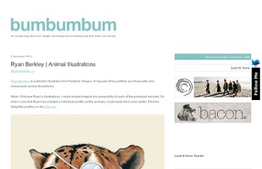 http://bumbumbum.me/2010/11/05/ryan-berkley-animal-illustrations/