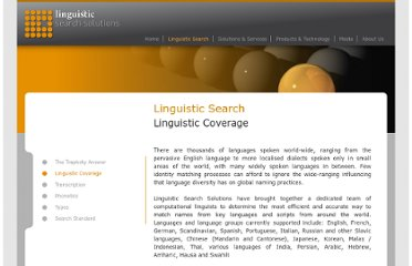 http://www.linguisticsearchsolutions.com/linguistic-search/linguistic-coverage/