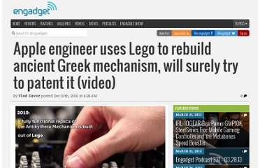 http://www.engadget.com/2010/12/10/apple-engineer-uses-lego-to-rebuild-ancient-greek-mechanism-wil/