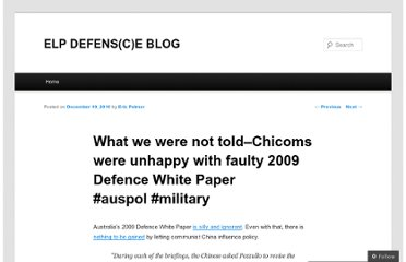 http://ericpalmer.wordpress.com/2010/12/10/what-we-were-not-told-chicoms-were-unhappy-with-faulty-2009-defence-white-paper-auspol-military/