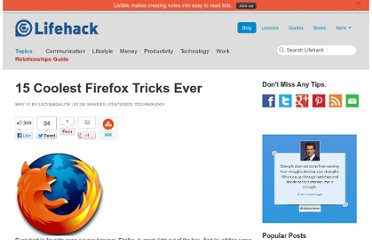 http://www.lifehack.org/articles/technology/15-coolest-firefox-tricks-ever.html