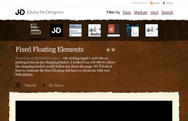 http://jqueryfordesigners.com/fixed-floating-elements/
