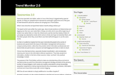 http://trendmonitor2.wordpress.com/2-meta-knowledge/taxonomies-tagging/taxonomies-30-report-announced/