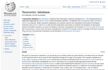 http://en.wikipedia.org/wiki/Taxonomic_database