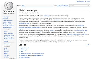 http://en.wikipedia.org/wiki/Metaknowledge