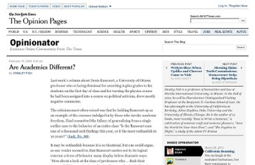 http://opinionator.blogs.nytimes.com/2009/02/15/are-academics-different/