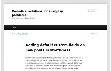 http://blog.mariokostelac.com/adding-default-custom-fields-on-new-posts/