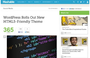 http://mashable.com/2010/12/10/wordpress-html5-theme/