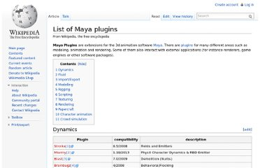 http://en.wikipedia.org/wiki/List_of_Maya_plugins#Import.2FExport