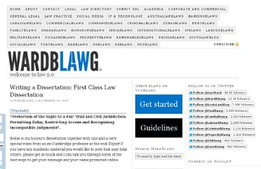 http://wardblawg.com/2010/11/18/writing-a-dissertation-first-class-law-dissertation/