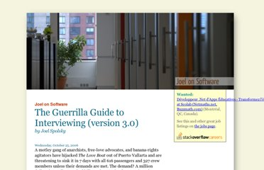 http://www.joelonsoftware.com/articles/GuerrillaInterviewing3.html