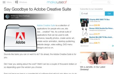 http://www.makeuseof.com/tag/say-goodbye-to-adobe-creative-suite/