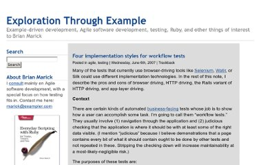 http://www.exampler.com/blog/2007/06/06/four-implementation-styles-for-workflow-tests/