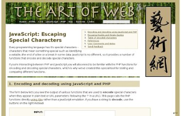 http://www.the-art-of-web.com/javascript/escape/