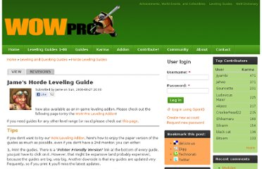 http://www.wow-pro.com/leveling_guides/james_horde_leveling_guide