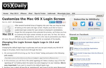http://osxdaily.com/2007/02/22/customize-the-mac-os-x-login-screen/