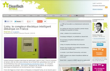 http://www.cleantechrepublic.com/2009/05/28/linky-le-compteur-electrique-intelligent-debarque-en-france/