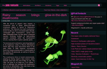 http://pinktentacle.com/2006/05/rainy-season-brings-glow-in-the-dark-mushrooms/