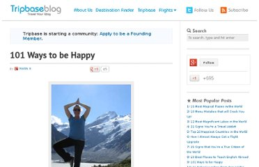 http://www.tripbase.com/blog/101-ways-to-be-happy/