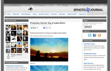 http://www.dphotojournal.com/creating-ray-of-lights-with-photoshop-intermediate/