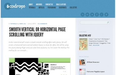 http://tympanus.net/codrops/2010/06/02/smooth-vertical-or-horizontal-page-scrolling-with-jquery/