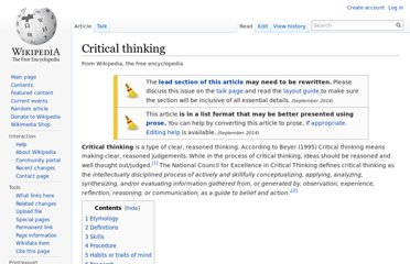 http://en.wikipedia.org/wiki/Critical_thinking