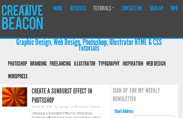 http://www.creativebeacon.com/category/tutorials/