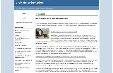 http://droitdepreemption.blogspirit.com/b-a-ba_l_essentiel_de_la_preemption/