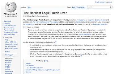 http://en.wikipedia.org/wiki/The_Hardest_Logic_Puzzle_Ever