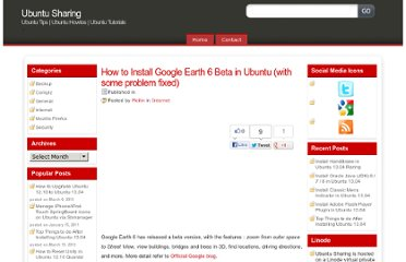 http://ubuntuguide.net/how-to-install-google-earth-6-beta-in-ubuntu-with-some-problem-fixed