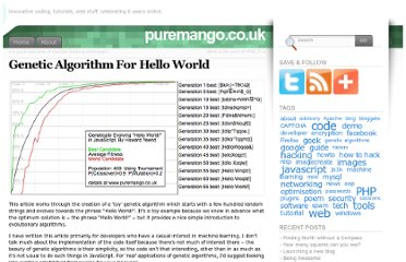 http://www.puremango.co.uk/2010/12/genetic-algorithm-for-hello-world/