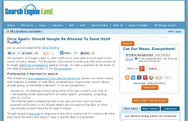 http://searchengineland.com/once-again-should-google-be-allowed-to-send-itself-traffic-58543