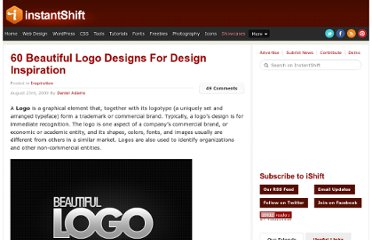 http://www.instantshift.com/2009/08/23/60-beautiful-logo-designs-for-design-inspiration/