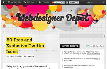 http://www.webdesignerdepot.com/2009/07/50-free-and-exclusive-twitter-icons/