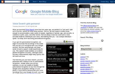 http://googlemobile.blogspot.com/2010/12/voice-search-gets-personal.html