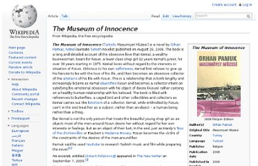 http://en.wikipedia.org/wiki/The_Museum_of_Innocence
