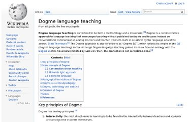 http://en.wikipedia.org/wiki/Dogme_language_teaching