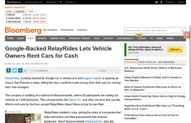 http://www.bloomberg.com/news/2010-12-14/google-backed-relayrides-lets-users-rent-cars-for-cash-taking-on-zipcar.html