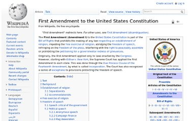 http://en.wikipedia.org/wiki/First_Amendment_to_the_United_States_Constitution