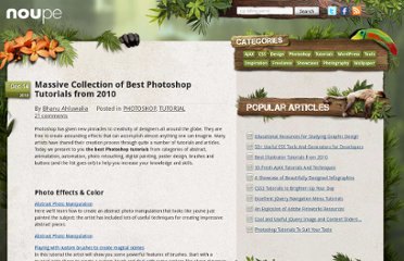 http://www.noupe.com/tutorial/massive-collection-of-best-photoshop-tutorials-from-2010.html