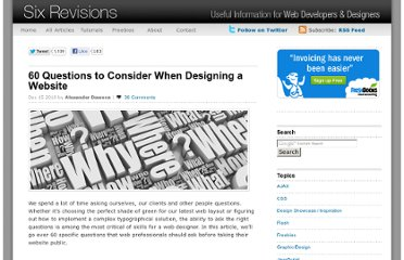 http://sixrevisions.com/web_design/60-questions-to-consider-when-designing-a-website/
