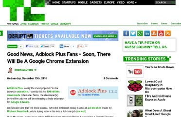 http://techcrunch.com/2010/12/15/adblock-plus-chrome/