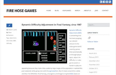 http://www.firehosegames.com/2010/03/dynamic-difficulty-adjustment-in-final-fantasy-circa-1987/
