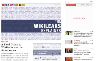 http://gawker.com/5710625/a-field-guide-to-wikileaks-and-its-adversaries
