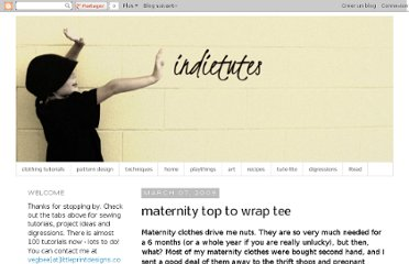 http://indietutes.blogspot.com/2009/03/maternity-top-to-wrap-tee.html