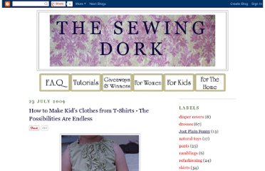 http://sewingdork.blogspot.com/2009/07/how-to-make-kids-clothes-from-t-shirts.html