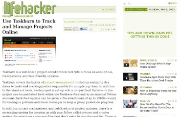 http://lifehacker.com/5218382/use-taskbarn-to-track-and-manage-projects-online