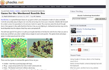 http://www.ghacks.net/2007/01/12/game-for-the-weekeend-rumble-box/