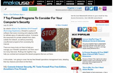 http://www.makeuseof.com/tag/7-top-firewall-programs-computers-security/